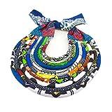 Colorful Handmade African Bohemia Style Women Chain Statement Ankara Necklace Wax