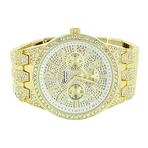 platinum iced out watch - 4