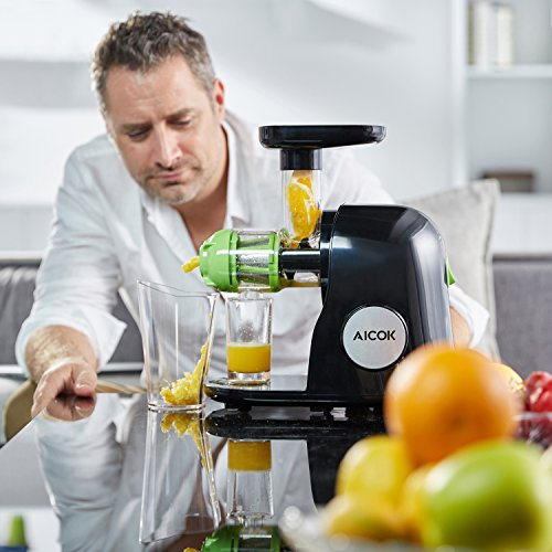 Aicok Slow Juicer Juice Extractor : Aicok Slow Masticating Juicer Extractor, Cold Press Juicer, Quiet Motor, with Juice Jug and ...