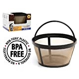 GoldTone Brand Reusable 8-12 Cup Basket Filter fits Black & Decker Coffee Machines and Brewers. Replaces your Black+Decker Reusable Coffee Filter and Permanent Black & Decker Coffee Basket Filter