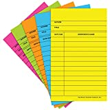 Top Notch Teacher Products TOP369 Library Cards Brite Assorted 500-Bx