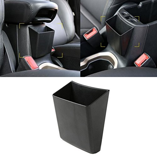 1pc Black ABS Car Interior Front Armrest Storage Box for Jeep Renegade 2015 2016 2017