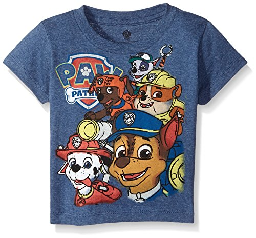 Paw Patrol Little Boys' Toddler Group T-Shirt, Navy Heather, 2T