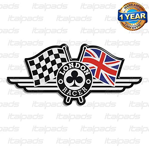 Adesivo in resina London Racer bandiera inglese Triumph