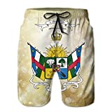 Qinf New Cartoon Fashion Central-africa-clipart Summer Beach Pants Casual Shorts For Man