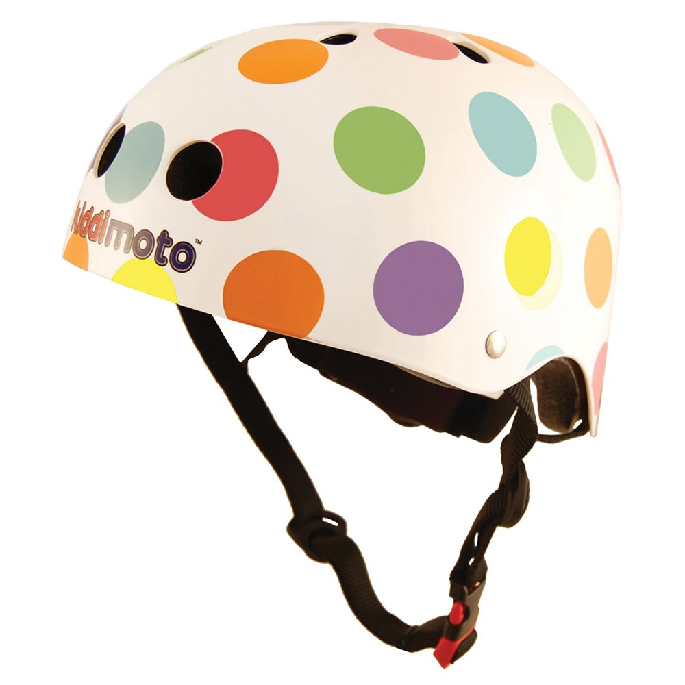Kiddimoto Kids Patterned Helmet (Pastel Dotty, Small)