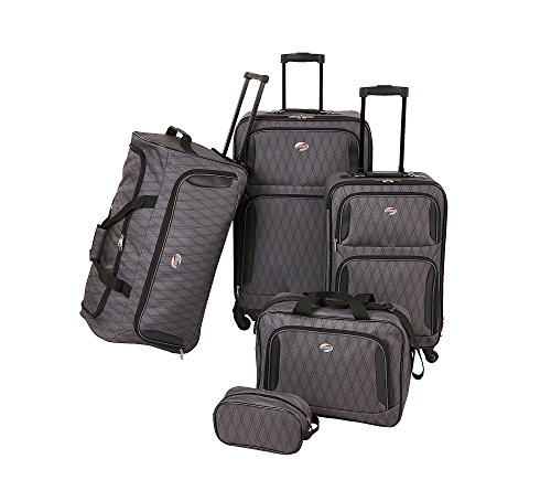 American Tourister 5-pc Spinner Luggage Set Gray by American Tourister