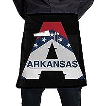 Arkansas Flag A Letter Fashion Apron Restaurant Waitress Half Pub Aprons