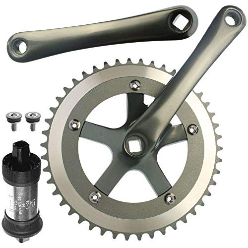 CyclingDeal Alloy Fixie Single Speed Crankset With BB 48 Teeth 170mm ()