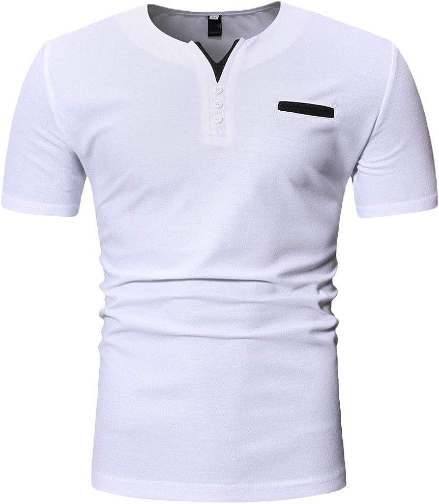 YEBIRAL Camisetas Hombre Manga Corta,Casual Moda ...