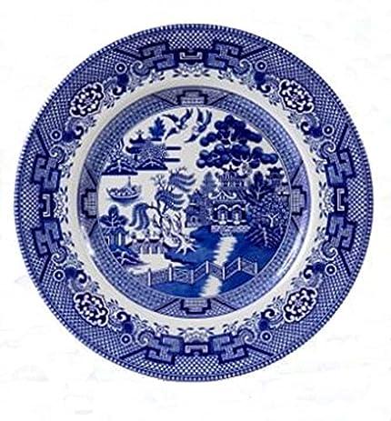 Cuthbertson Blue Willow Dinner Plate 11u0026quot;  sc 1 st  Amazon.com & Amazon.com | Cuthbertson Blue Willow Dinner Plate 11