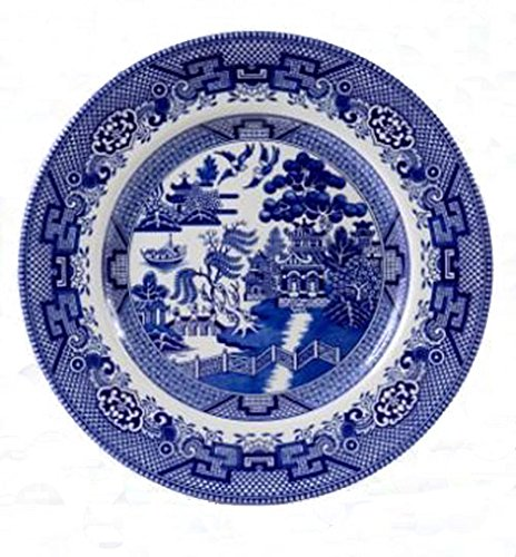 Cuthbertson Blue Willow - Cuthbertson Blue Willow Dinner Plate, 11