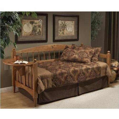 Wood Daybed Traditional (Hillsdale Dalton Daybed in Medium Oak Finish With Suspension Deck)