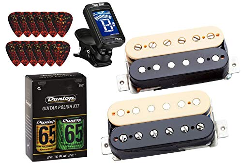 (Seymour Duncan APH-2s Slash Alnico II Pro Humbucker Pickup Set - Zebra/Reverse Zebra Bundle w/ Tuner and Care Kit)