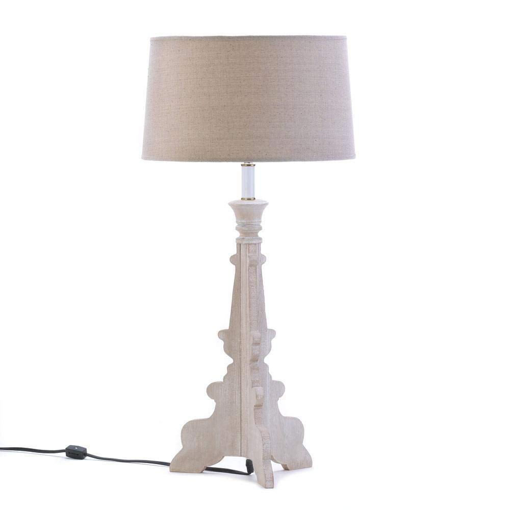 ROX Luxury House Table LAMP: Modern Baroque Style French Country Laser Cut Wood Light New