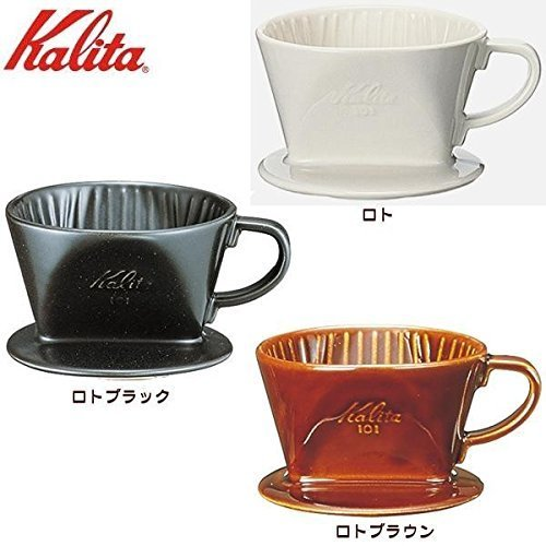 Kalita (Carita) Ceramic Coffee Dripper 102 02003 Lotto Brown household utensils cooking supplies [parallel import goods] by Aggressor
