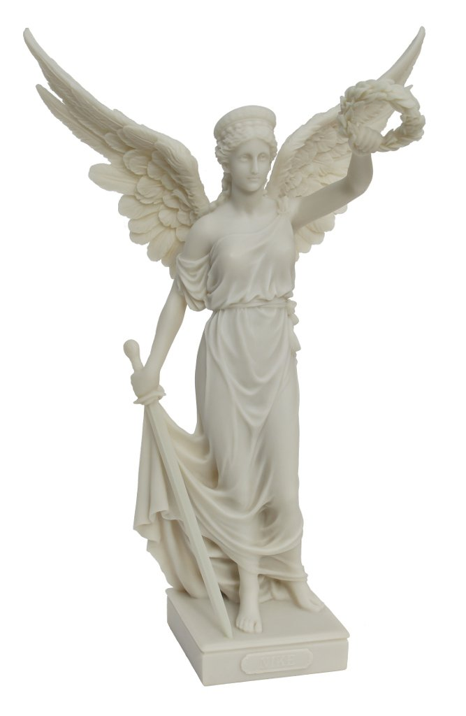 Amazon Nike With Sword And Wreath Polystone Statue Figurine 14