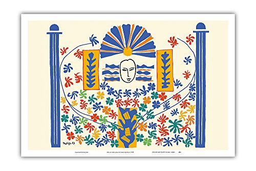 Apollo (Apollon) - Artist Model for a Ceramic Tile Mural by Henri Matisse c.1953 - Master Art Print - 12in x 18in - Apollo Wall Sculpture