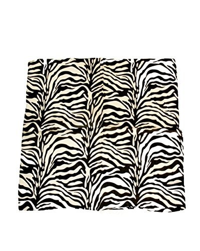 Zac's Alter Ego Men's Zebra Print Bandana Approx 53Cm X 53 Cm Black/ White (Animal Print Bandanas)