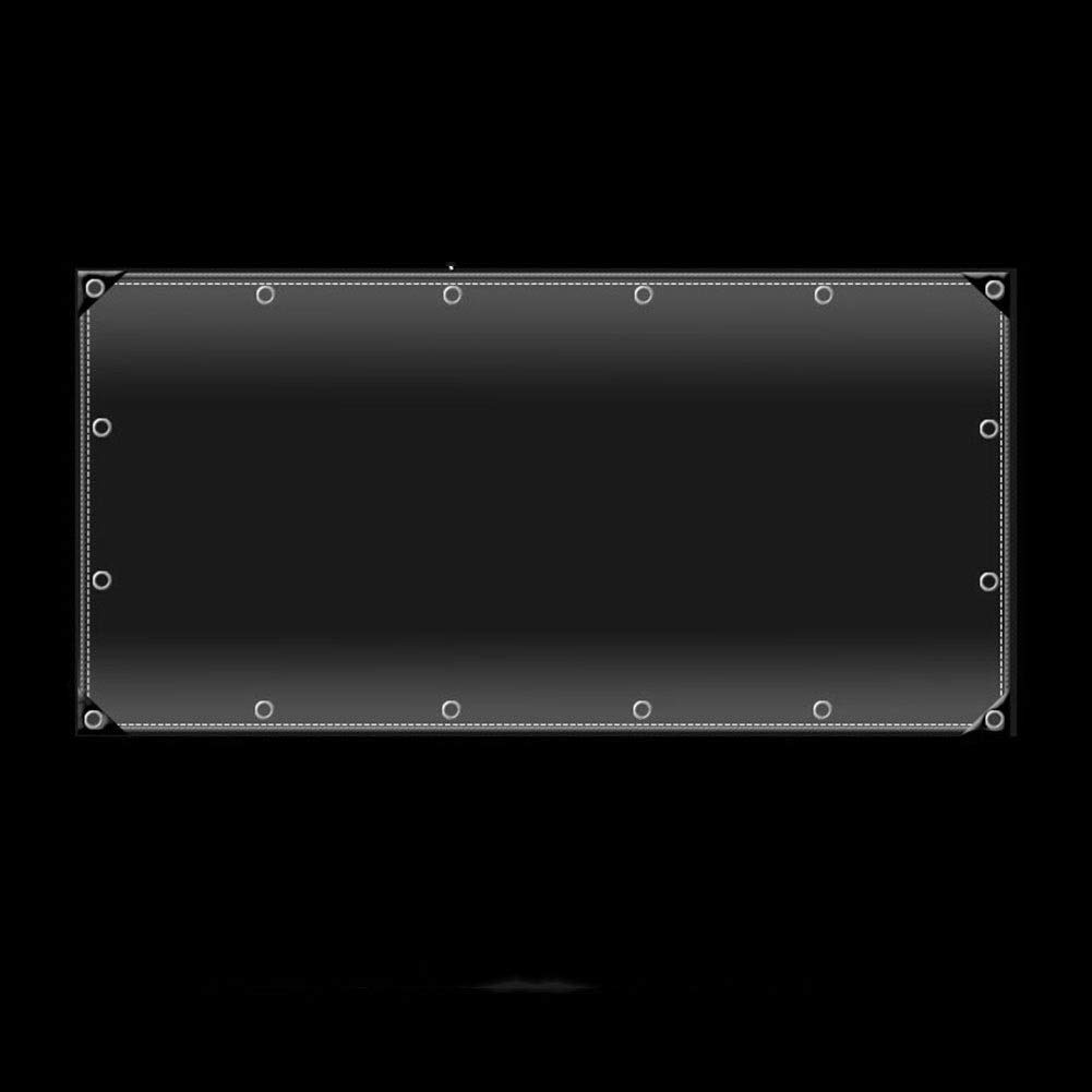 LSXIAO B/âche Transparente R/ésistant /À La Pluie Et /À La Poussi/ère Couverture Isolante V/ég/étale Film Souple en PVC Transparent Oeillet M/étallique Store Ext/érieur for Terrasse 14 Tailles
