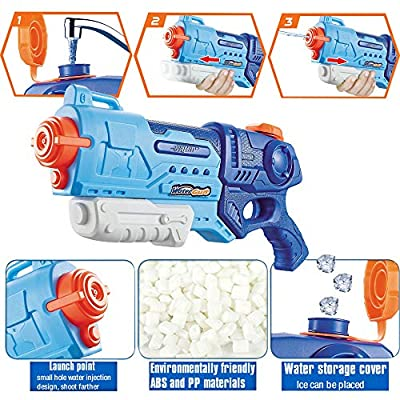 WTOR 3 Pack Super Water Guns Water Blaster Squirt Guns High Capacity Water Fighting Toy Summer Outdoor Swimming Pool Guns for Adults Kids Teens Boys Girls: Toys & Games