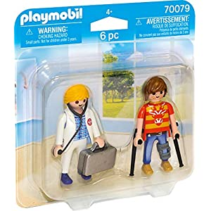 PLAYMOBIL- Duo Pack Duopack Doctora y Paciente, Multicolor (70079) 16