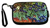 Rikki Knight UKBK Neoprene Smartphone Bag - Van Gogh Art Irises for Universal/Smartphones