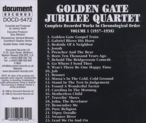 Golden Gate Quartet, Vol. 1 (1937-1938)