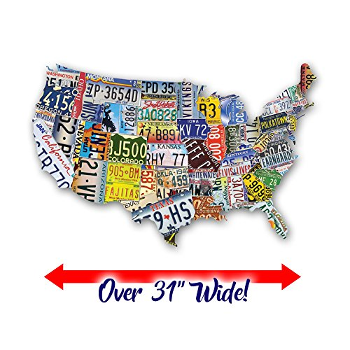 1000 Piece Shaped Jigsaw Puzzle - TDC Games USA License Plates Jigsaw Puzzle – 1,000 Pieces
