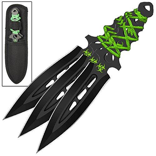 Armory Replicas Airborne Biohazard Zombie Ninja Throwing Knife Set