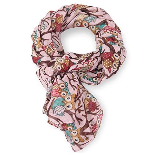 MissShorthair Lightweight Owl Scarf Fashion Shawl Wrap for Women Gift