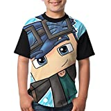 AOOIUU DanTDM Dan TDM Fashion Comfy T-Shirt Short Sleeve Tops for Kids Youth Boys and Girls