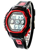 Kids Waterproof Childrens/Boys/Girls Digital Sport Watches for 5-15 Years Old Gift, Red