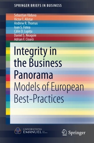 Integrity in the Business Panorama: Models of European Best-Practices (SpringerBriefs in Business)
