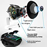 [New 2019 Upgraded] Wireless Security Camera - WiFi Home Surveillance 2.4G IP Remote Cameras for Baby/Pet/Nanny Monitor, Pan/Tilt, Two-Way Audio & Night Vision, 720p HD - Best App for iOS, Android