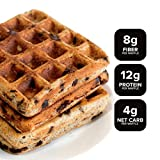 KNOW Foods Gluten Free Waffles, Chocolate Chip, Low Carb, Keto + Paleo Friendly - 4 count (Frozen)
