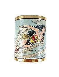 Wonder Woman 24k Gold Plated Cuff - Fashion Women Bracelet by MizDragonfly - Model: SKY