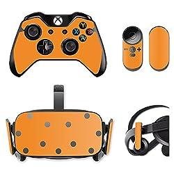 MightySkins Protective Vinyl Skin Decal for Oculus Rift CV1 wrap cover sticker skins Solid Orange