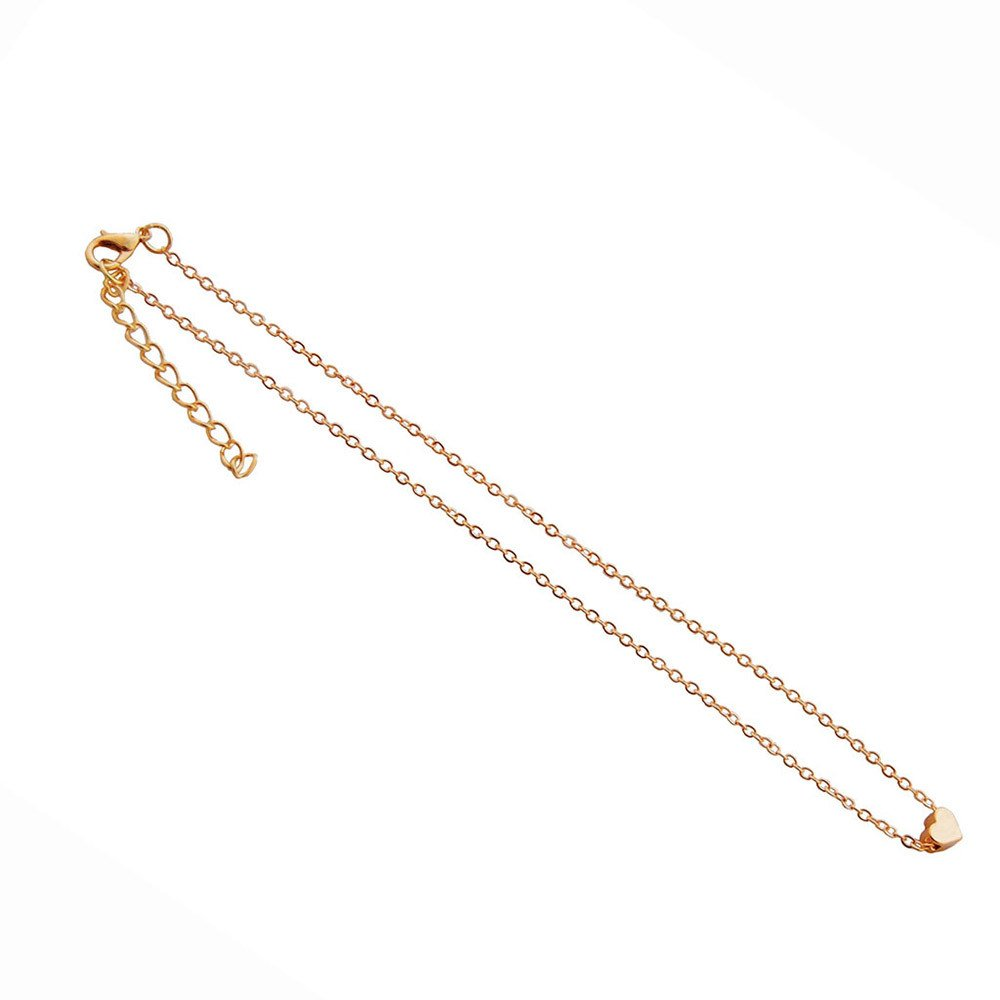 Women Necklace, Hmlai Heart Shaped Necklace Personalized Fashion Luxury Rhinestones Clavicle Chains(Gold)