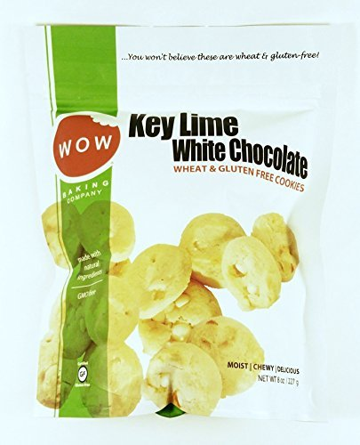 Key Lime White Chocolate Bagged Cookies: 8 oz by WOW Baking - White Chocolate Lime Cookies Key