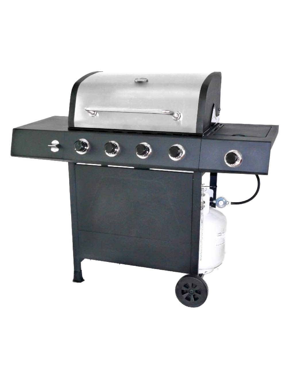 RevoAce 4-Burner LP Gas Grill with Side Burner, Stainless Steel by RevoAce