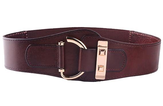 Vorschau von online zu verkaufen Sortendesign Cheerlife Damen Gürtel Echt Leder 5cm Breiter Hüftgürtel ...