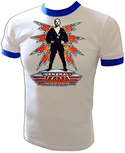 - Original 1980 D.C. Comics Superman II General Zod Movie Licensed Vintage Print Unused Classic Ringer T-Shirt
