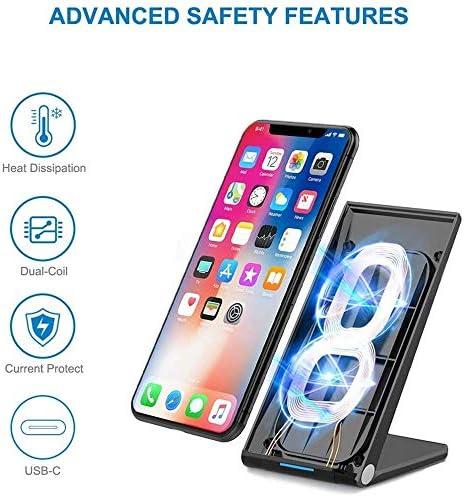15Wのワイヤレス充電ドックステーション、iPhone 11/11のPro / X/のX最大/XR / 8プラス/サムスンS10 / S10 + / S9 / S9 + / S8 + /注9、より互換の高速ワイヤレス充電スタンドを、Qiが認定します