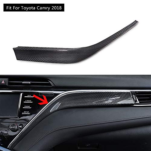 - FidgetKute Carbon Fiber Style Interior Dashboard Trim for Toyota Camry 2018 One Day