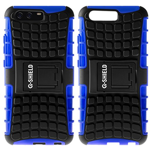 Funda Huawei P10 Plus, G-Shield Carcasa Extremo Protección [Con Soporte] [Anti-Arañazos] [Anti-Choque] [Muy Resistente] Híbrida a Prueba de Golpes Case Cover Para Huawei P10 Plus - Negro Azul