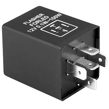 Turn Signal Light Relay 5-Pin EP27 FL27 Car Flasher Relay Decoder for LED Turn Signal Light 12V