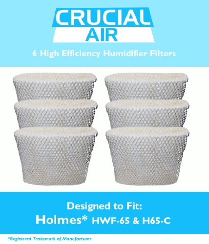 6 Holmes HWF-65 & H65-C Humidifier Wick Filters, Fits Hol...