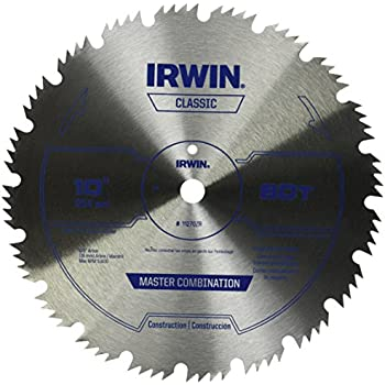 Irwin tools classic series steel table miter circular saw blade irwin tools steel table miter circular saw blade 10 inch 80 tooth 11270zr greentooth Images