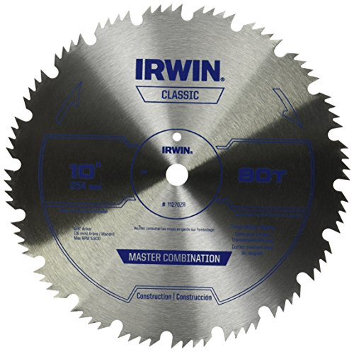 Irwin tools steel table miter circular saw blade 10 for 10 inch table saw comparison